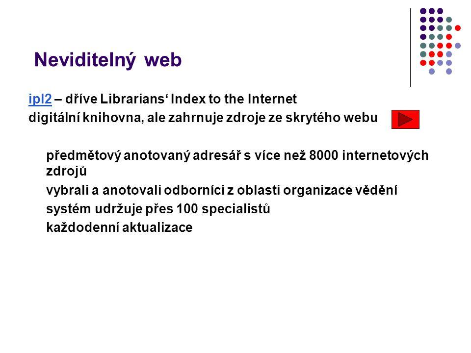 Neviditelný web ipl2 – dříve Librarians' Index to the Internet