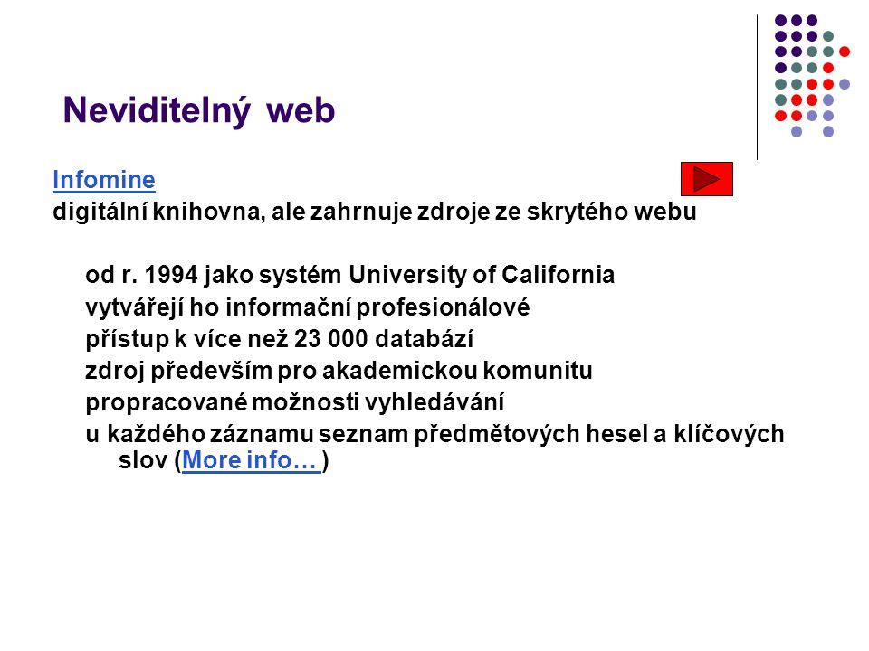 Neviditelný web Infomine