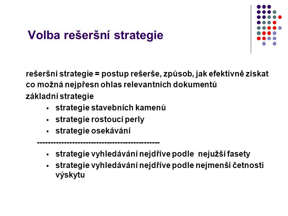 Volba rešeršní strategie