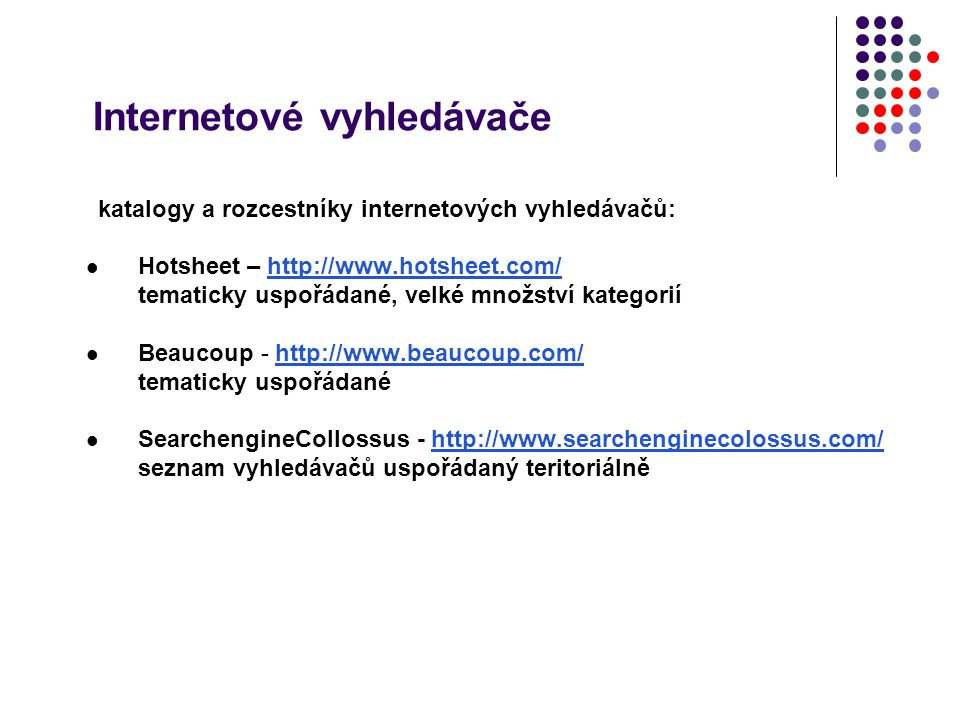 Internetové vyhledávače