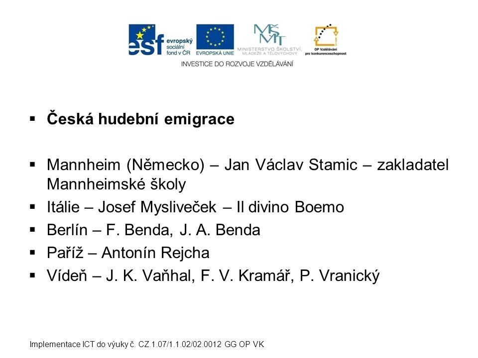 Česká hudební emigrace