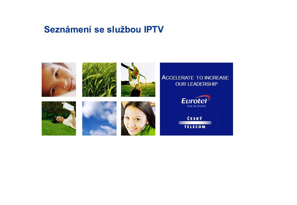 Co je IPTV služba Zcela nový produkt určený především pro domácnosti