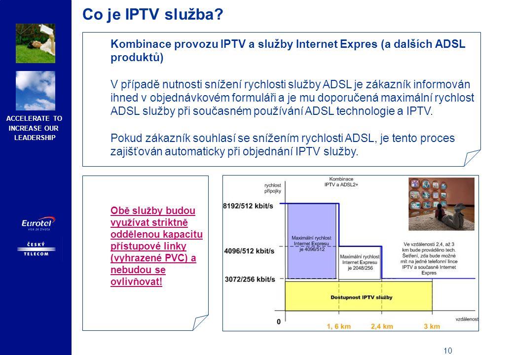 Co je IPTV služba Nabídka IPTV služeb pro zákazníky využívající IPTV od ostatních poskytovatelů ADSL služeb.