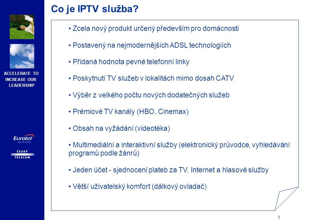 Co je IPTV služba Službu provozuje již několik evropských operátorů