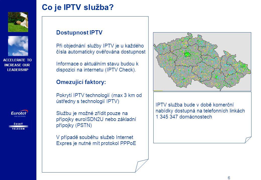 Co je IPTV služba Vhodný modem pro IPTV