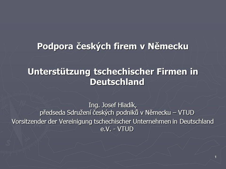 Podpora českých firem v Německu