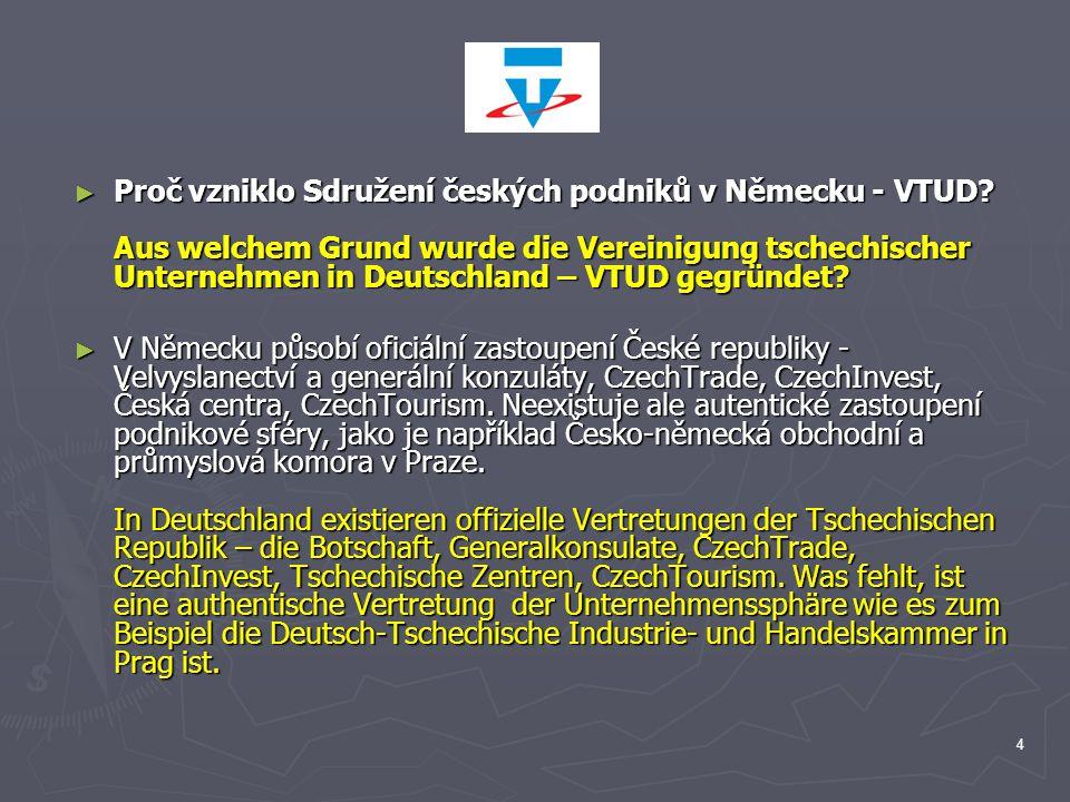 Proč vzniklo Sdružení českých podniků v Německu - VTUD