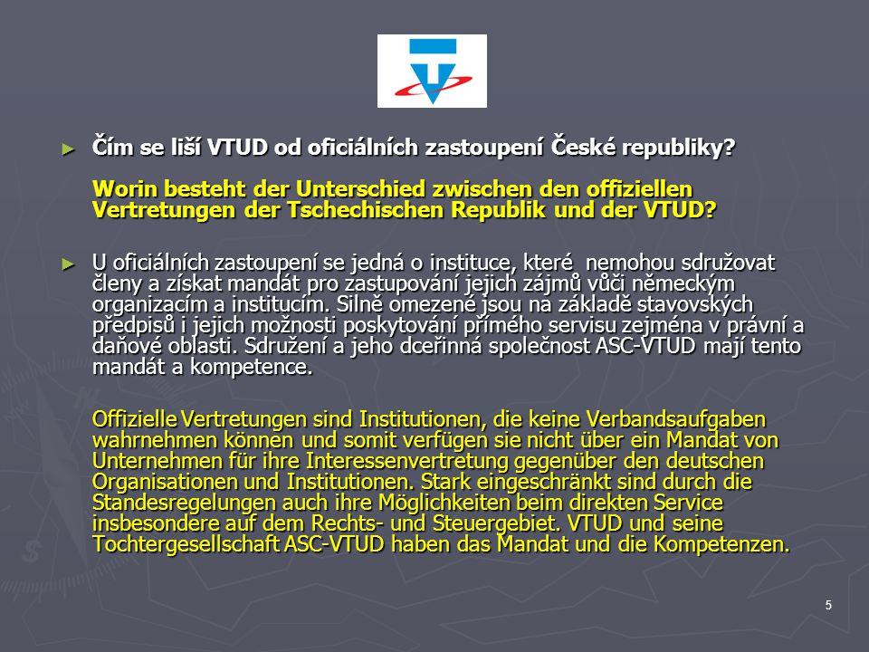 Čím se liší VTUD od oficiálních zastoupení České republiky