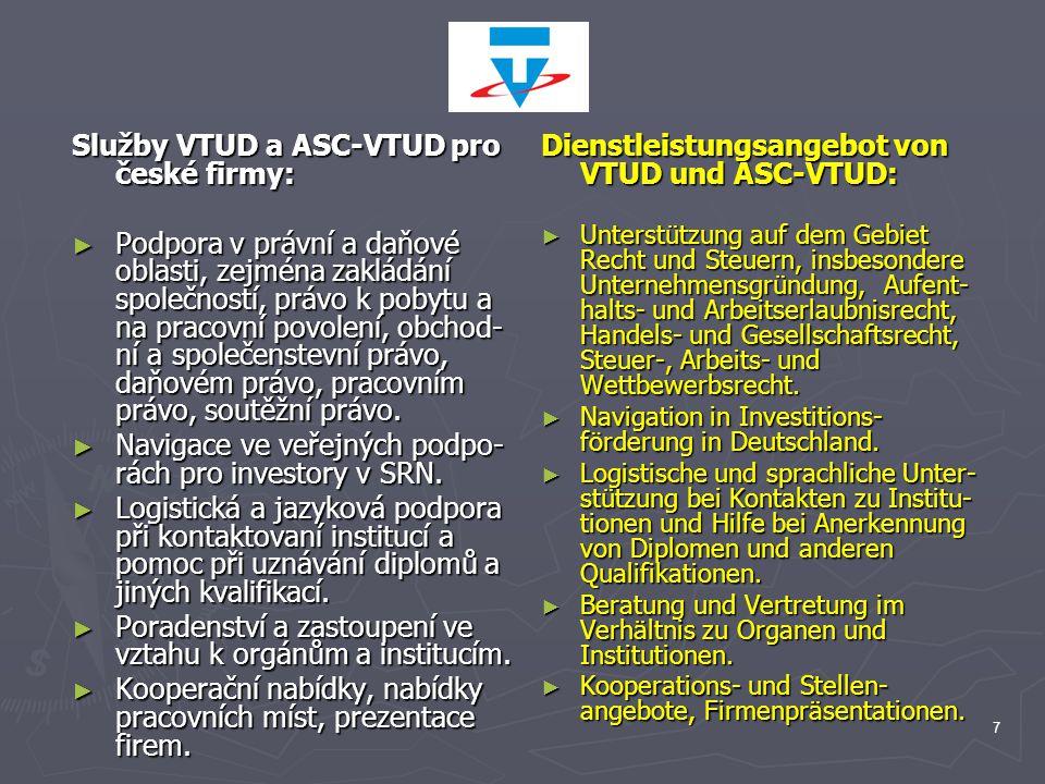 Služby VTUD a ASC-VTUD pro české firmy: