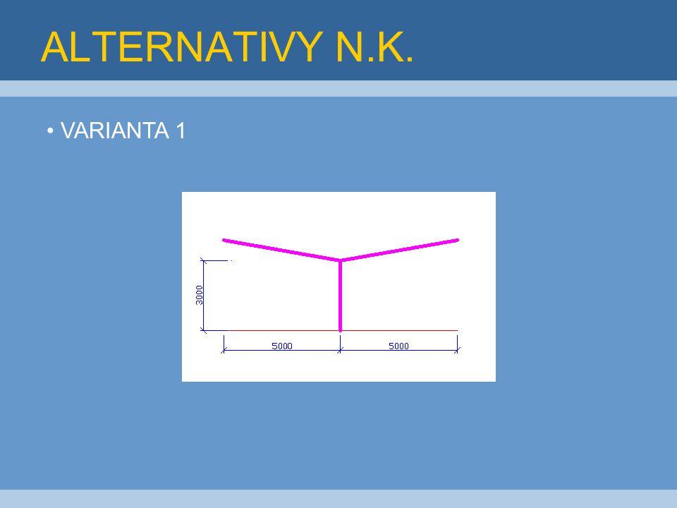 ALTERNATIVY N.K. VARIANTA 1 OBOUSTRANNÉ JEDNOSTRANNÉ