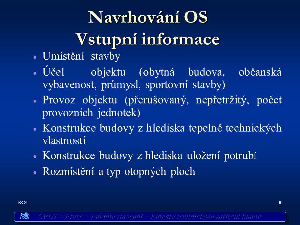 Navrhování OS Vstupní informace