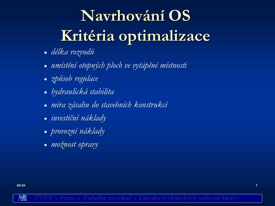 Navrhování OS Kritéria optimalizace
