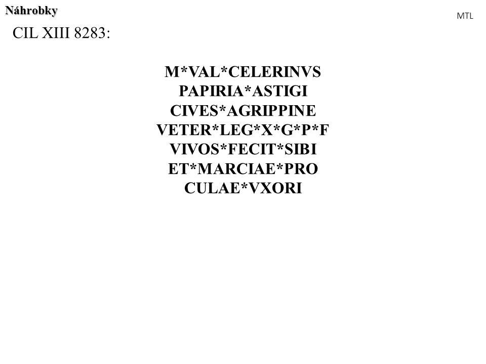 CIL XIII 8283: M*VAL*CELERINVS PAPIRIA*ASTIGI CIVES*AGRIPPINE