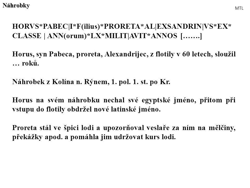 Náhrobek z Kolína n. Rýnem, 1. pol. 1. st. po Kr.