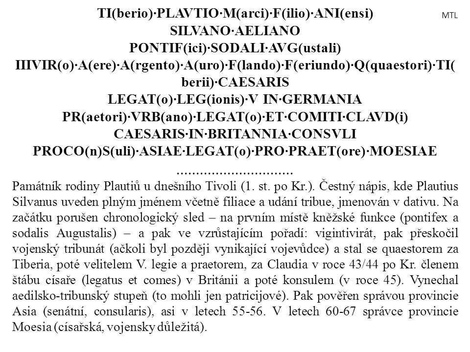 TI(berio)·PLAVTIO·M(arci)·F(ilio)·ANI(ensi)