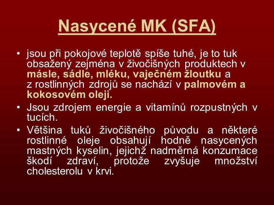 Nasycené MK (SFA)