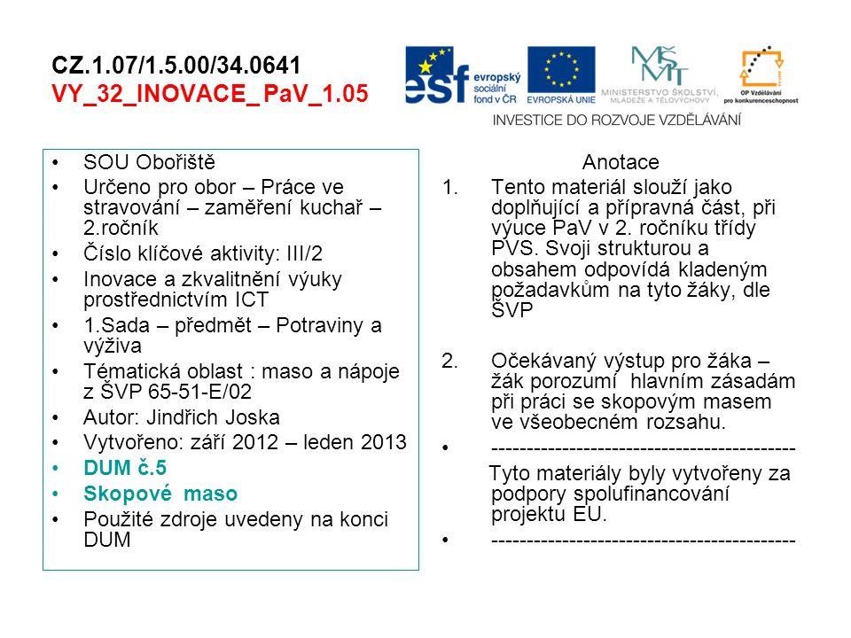 CZ.1.07/1.5.00/34.0641 VY_32_INOVACE_ PaV_1.05