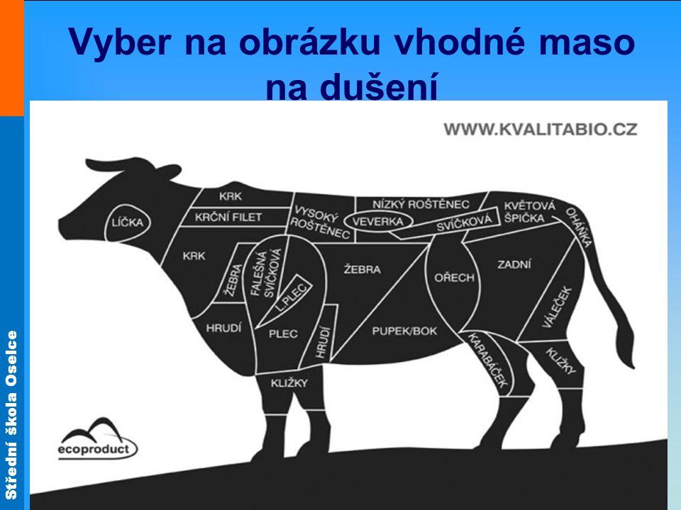 Vyber na obrázku vhodné maso na dušení