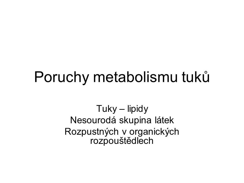 Poruchy metabolismu tuků