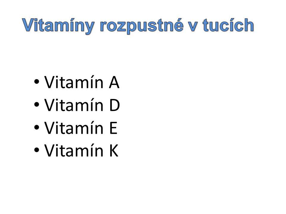Vitamíny rozpustné v tucích