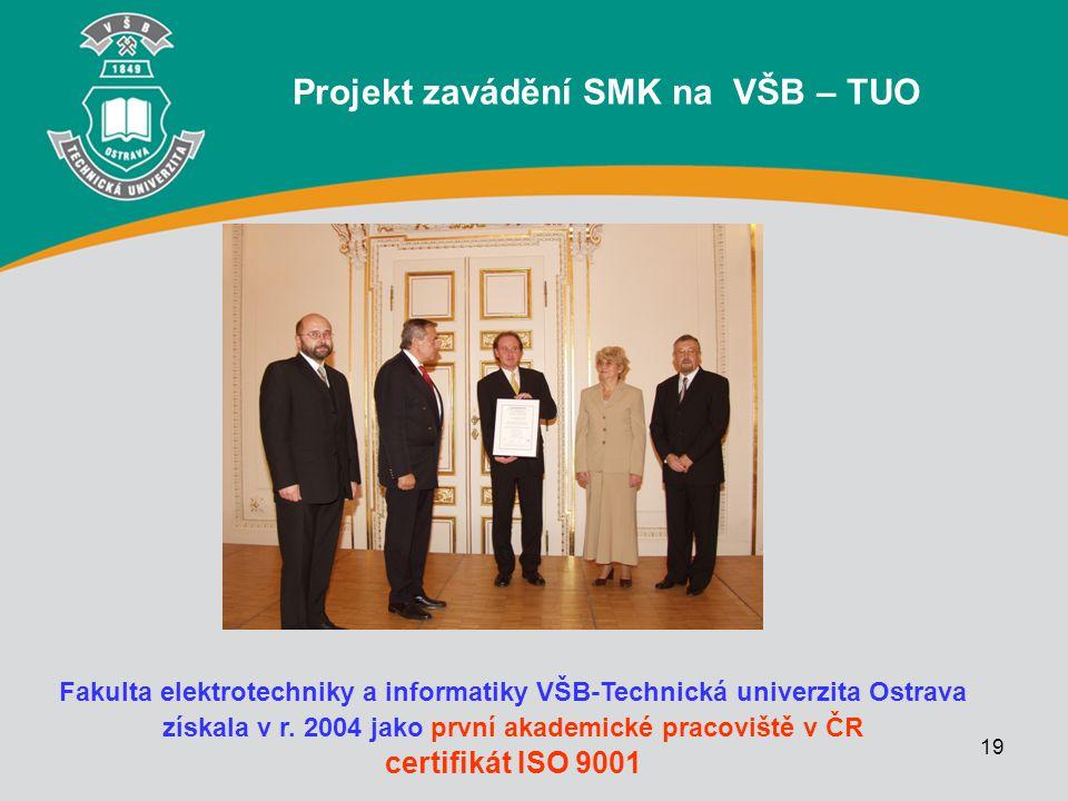 Projekt zavádění SMK na VŠB – TUO