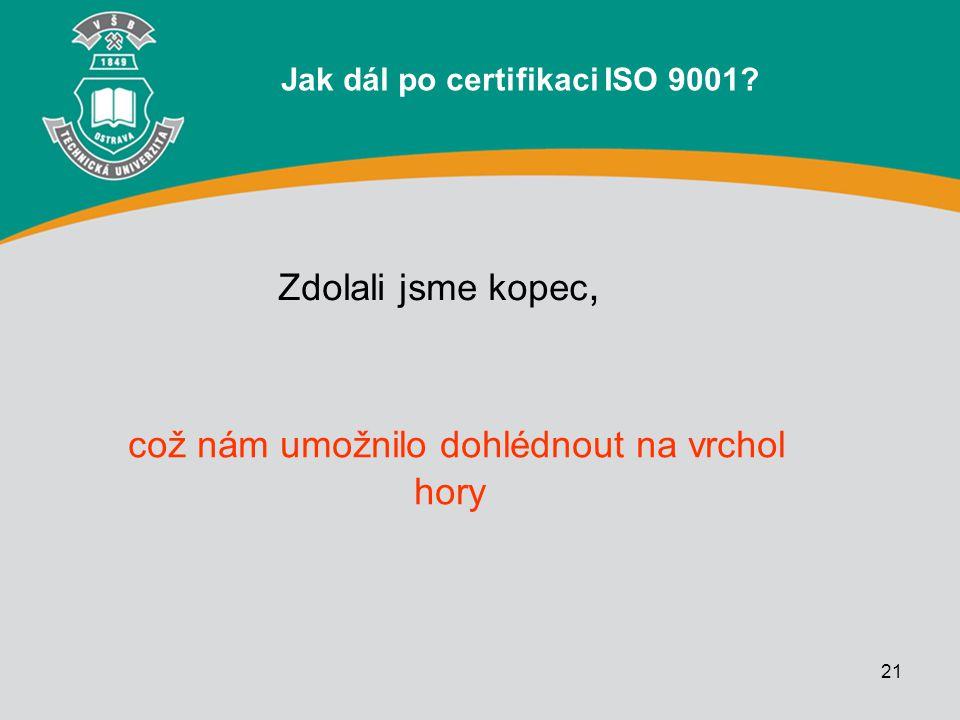 Jak dál po certifikaci ISO 9001