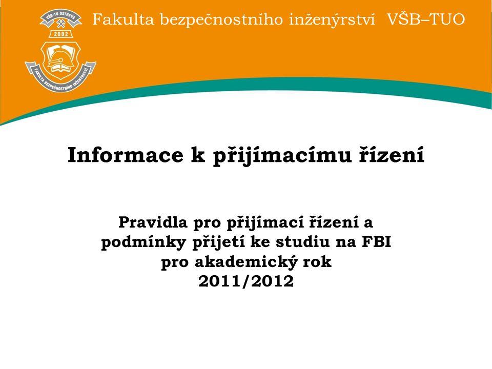 Informace k přijímacímu řízení