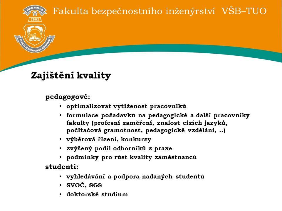 Zajištění kvality pedagogové: studenti: