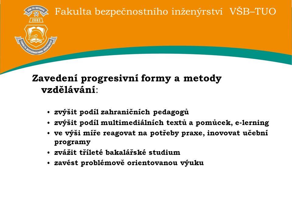 Zavedení progresivní formy a metody vzdělávání: