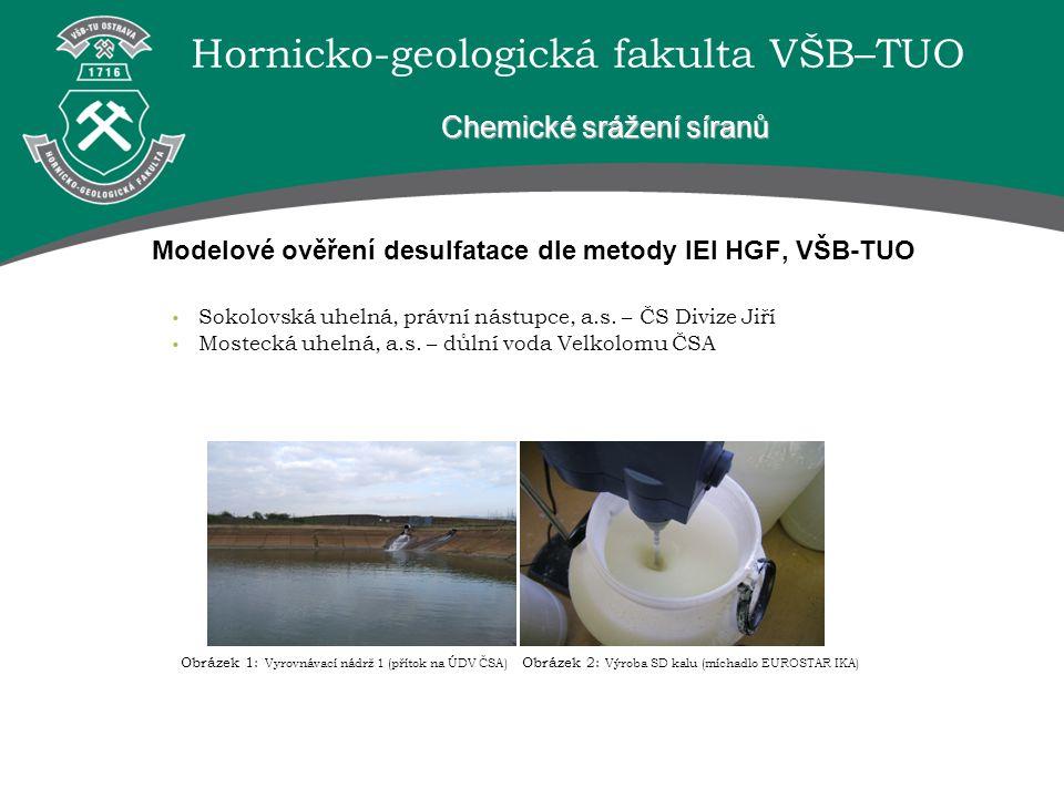 Modelové ověření desulfatace dle metody IEI HGF, VŠB-TUO