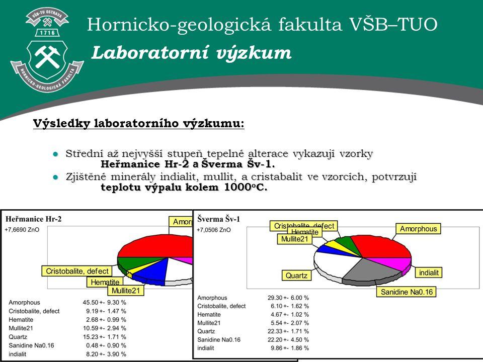Laboratorní výzkum Výsledky laboratorního výzkumu: