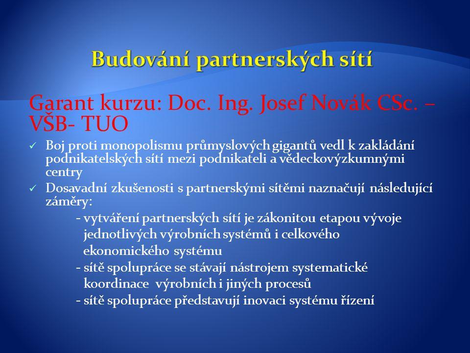 Budování partnerských sítí