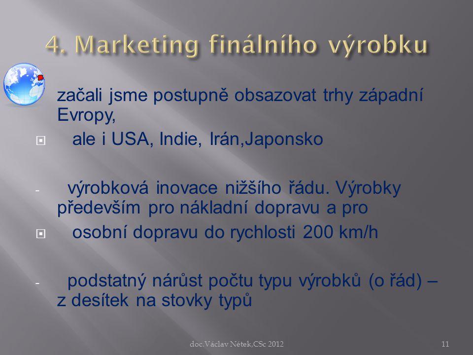 4. Marketing finálního výrobku