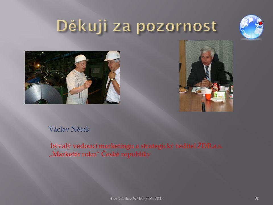 Děkuji za pozornost Václav Nétek