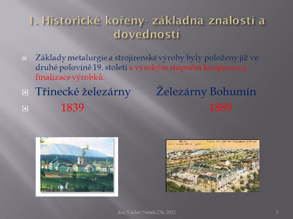 1. Historické kořeny- základna znalostí a dovedností