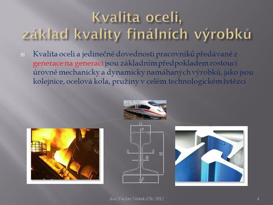 Kvalita oceli, základ kvality finálních výrobků