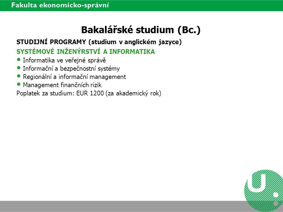 Bakalářské studium (Bc.)