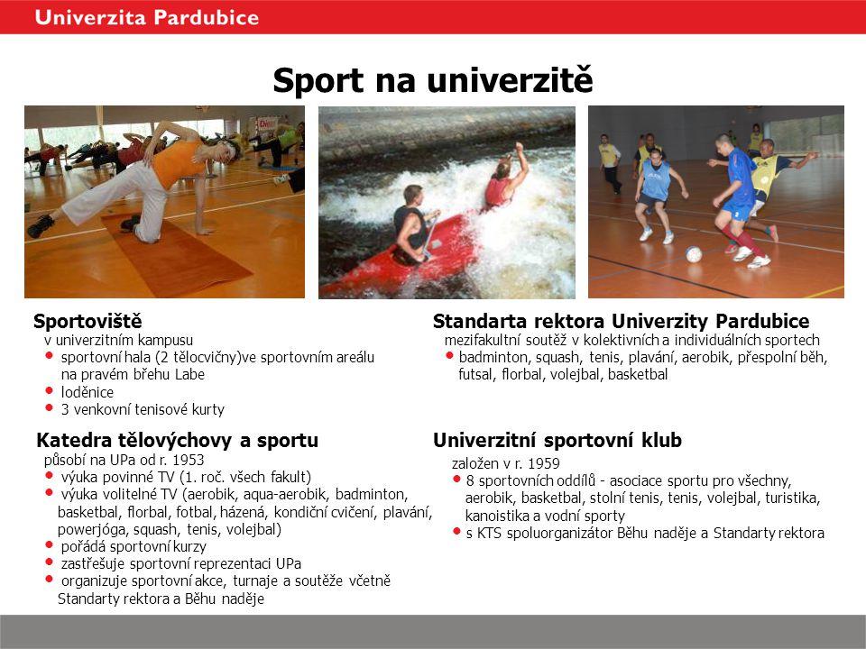 Sport na univerzitě Sportoviště Standarta rektora Univerzity Pardubice