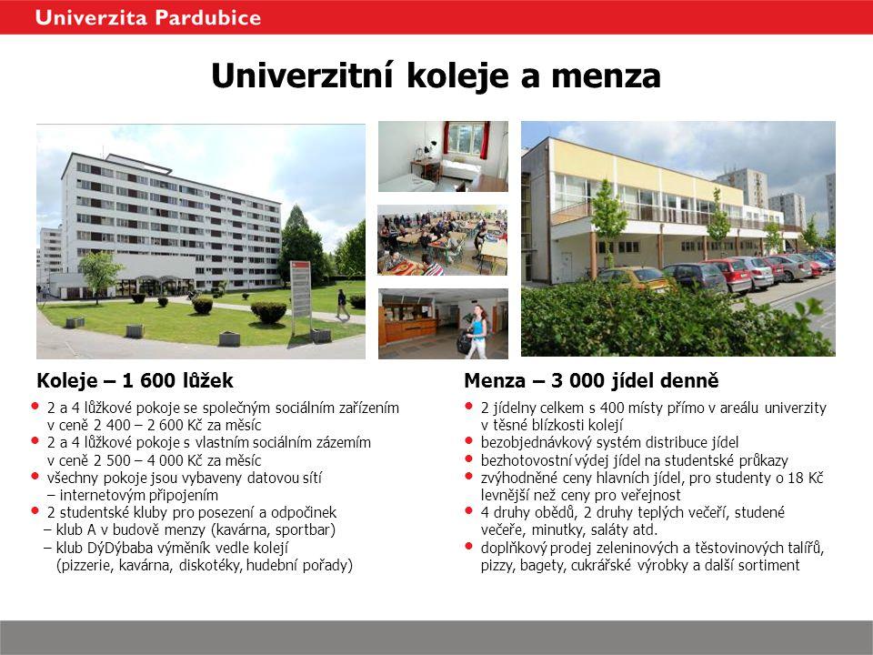 Univerzitní koleje a menza
