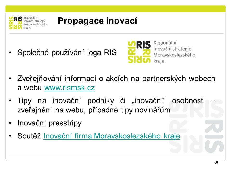Propagace inovací Společné používání loga RIS
