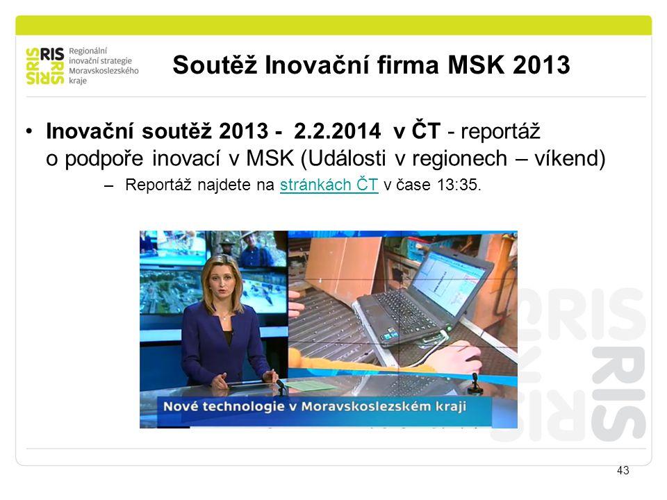 Soutěž Inovační firma MSK 2013