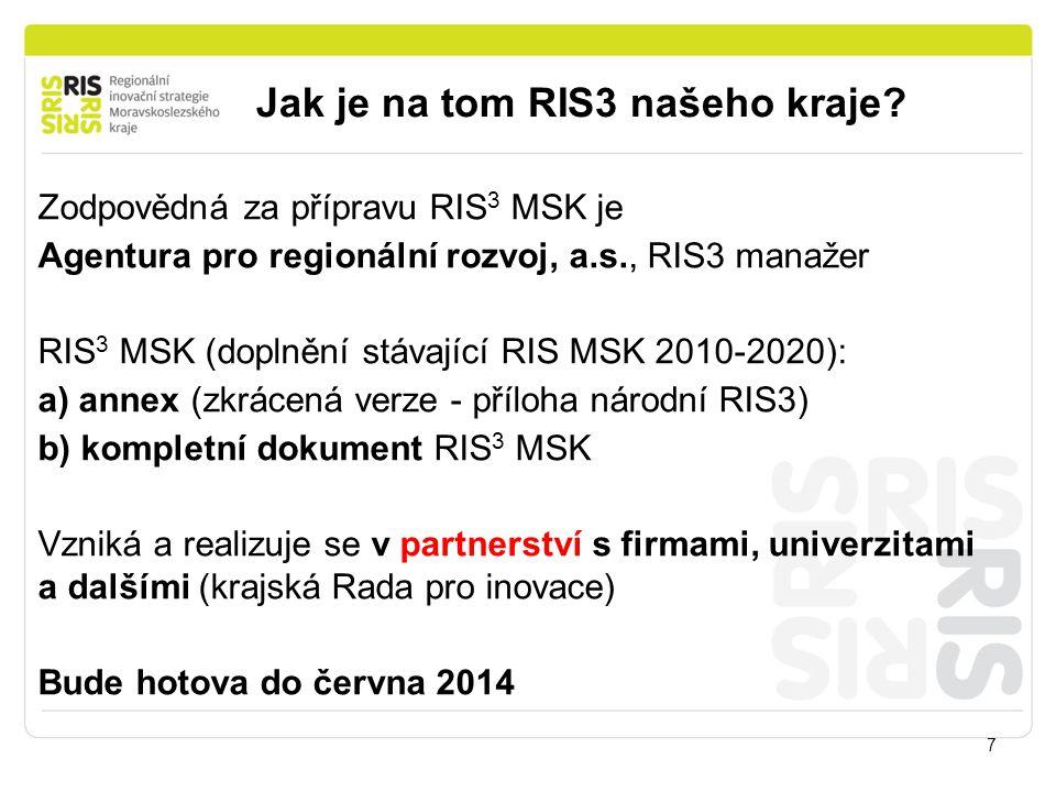 Jak je na tom RIS3 našeho kraje