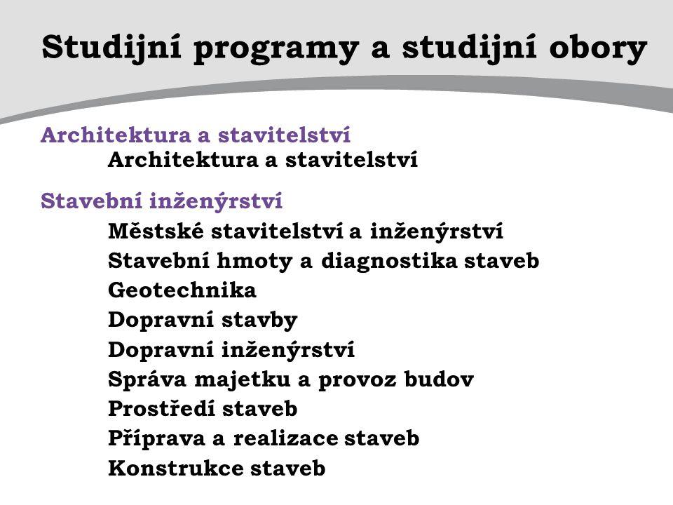 Studijní programy a studijní obory