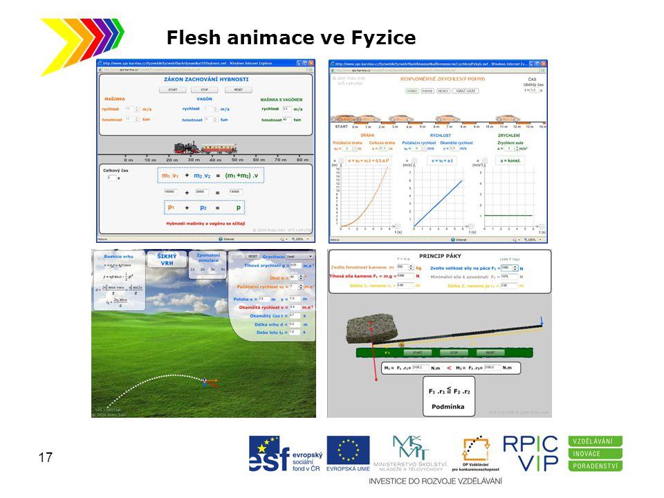 Flesh animace ve Fyzice