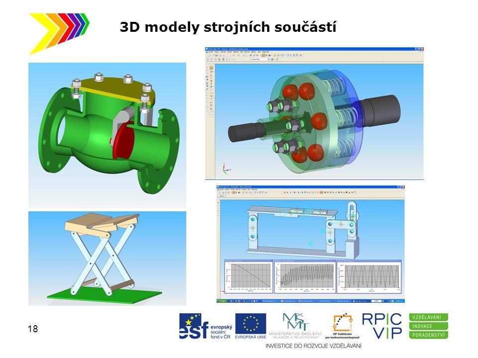 3D modely strojních součástí