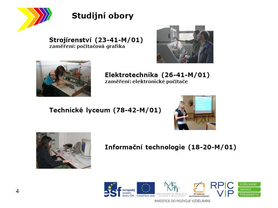 Studijní obory Strojírenství (23-41-M/01) Elektrotechnika (26-41-M/01)