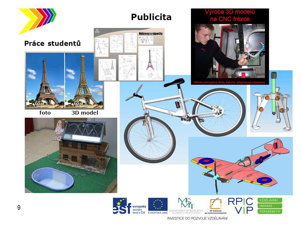 Publicita Práce studentů foto 3D model