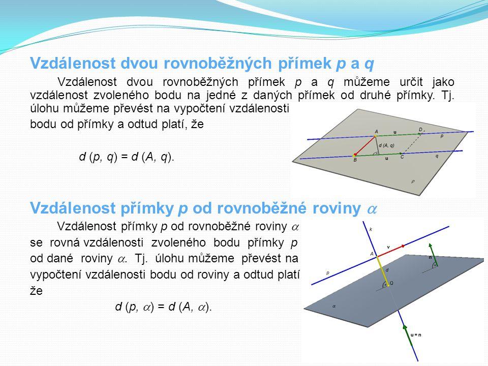 Vzdálenost dvou rovnoběžných přímek p a q