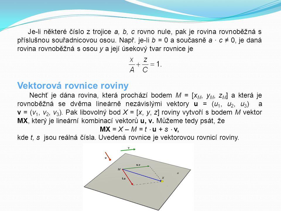 Vektorová rovnice roviny