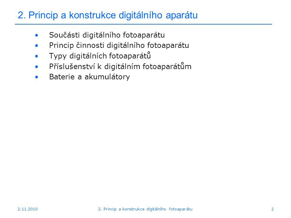 2. Princip a konstrukce digitálního aparátu